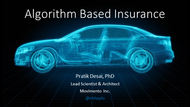 Data In The Driver Seat: Algorithm Based Insurance