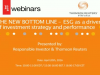 THE NEW BOTTOM LINE: ESG as a driver of investment strategy and performance