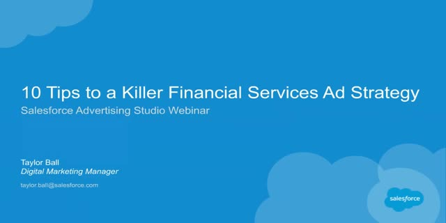 10 Tips to a Killer Financial Services Ad Strategy