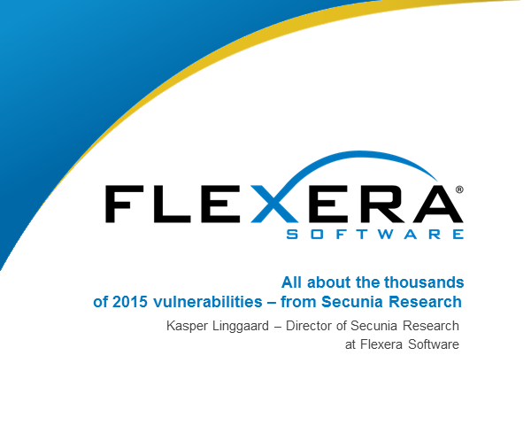 All about the thousands of 2015 vulnerabilities. From Secunia Research