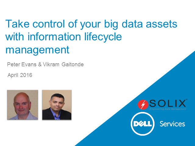 Take control of your big data assets with information lifecycle management