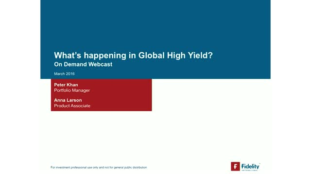 What's happening in Global High Yield?