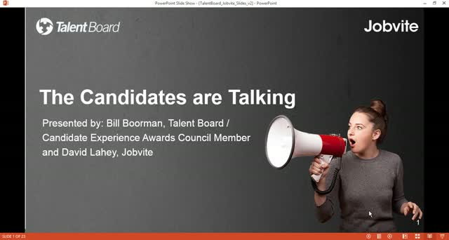 The Candidates are Talking