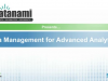 Data Management for Advanced Analytics