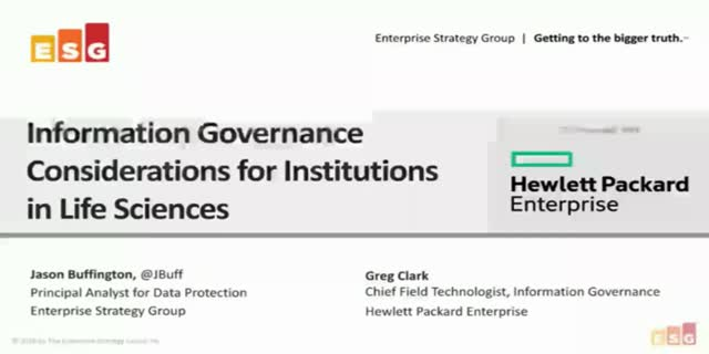 Information Governance in Life Sciences