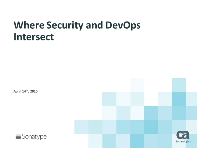 Where Security and DevOps Intersect