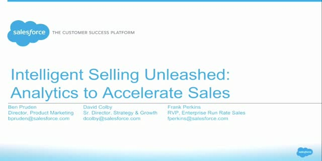 Intelligent Selling Unleashed: Analytics to Accelerate Sales