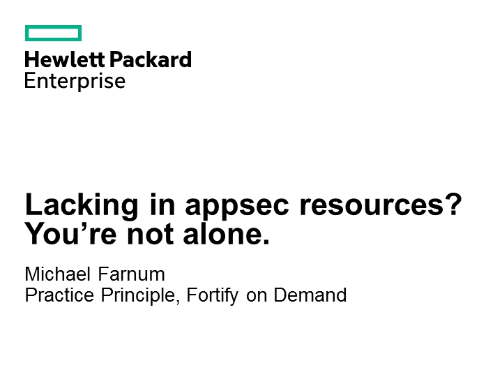 Lacking in appsec resources? You're not alone.