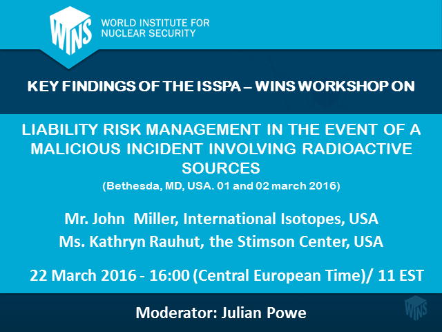 Security of Radioactive Sources: Liability Risk Management
