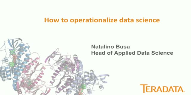 How to Operationalize Data Science