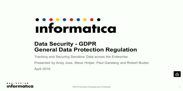 Data Security - GDPR (General Data Protection Regulation)