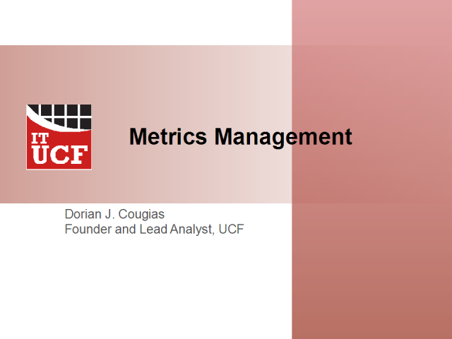 Metrics Management -- the key to compliance reporting