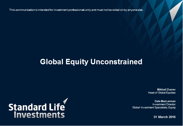 Global Equity Unconstrained Update