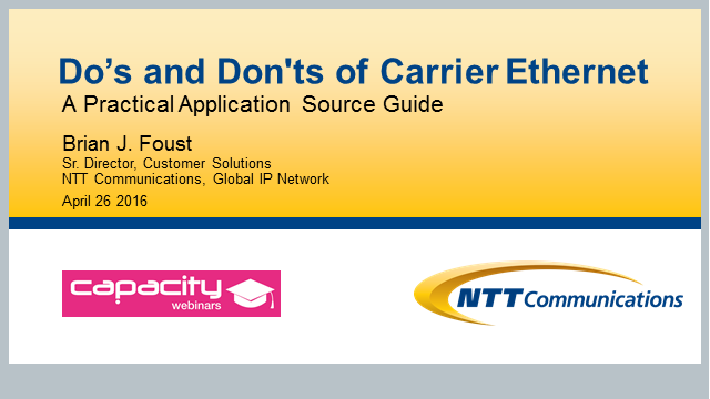 Do's and Don'ts of Carrier Ethernet - A Practical Applications Source Guide
