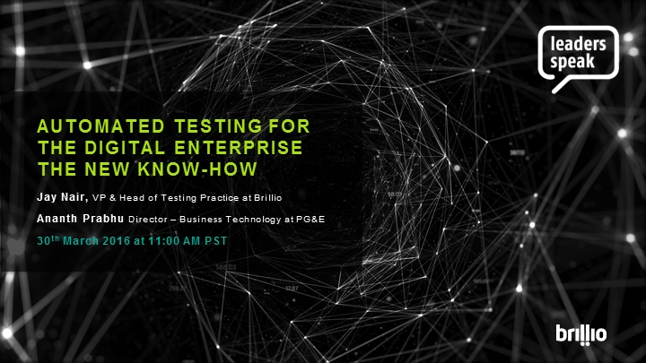 Automated Testing for the Digital Enterprise - The New Know-How!