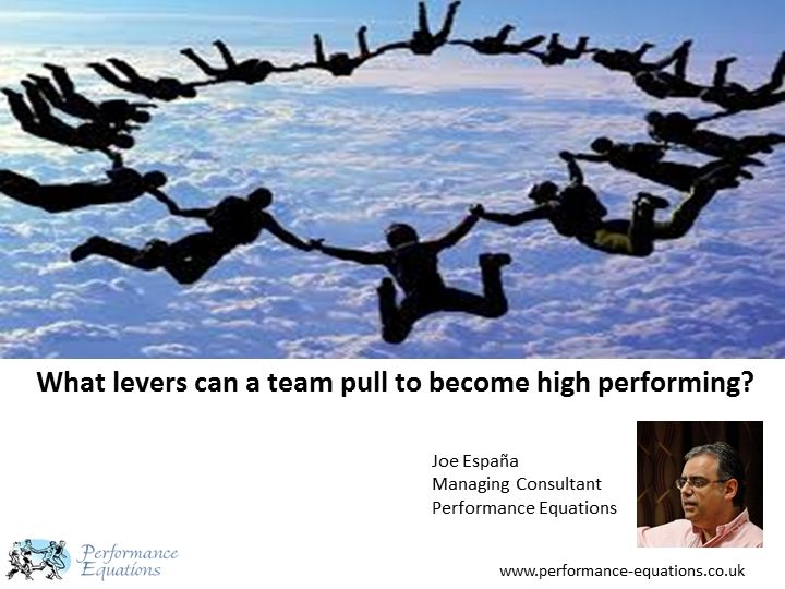 What levers can a team pull to become high performing?