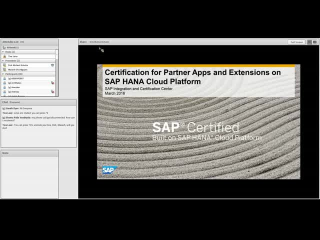 Certification for Partner Apps and Extensions on SAP HANA Cloud Platform