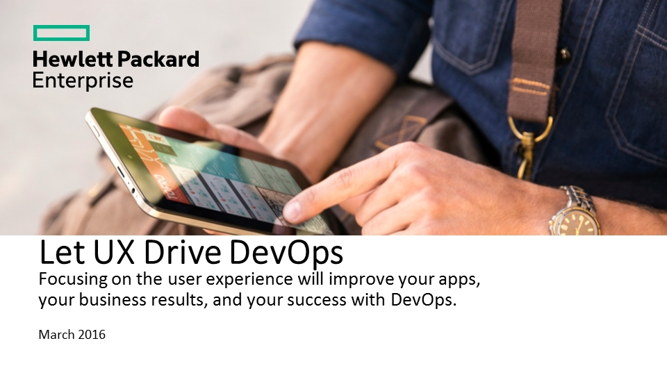 Let UX Drive DevOps