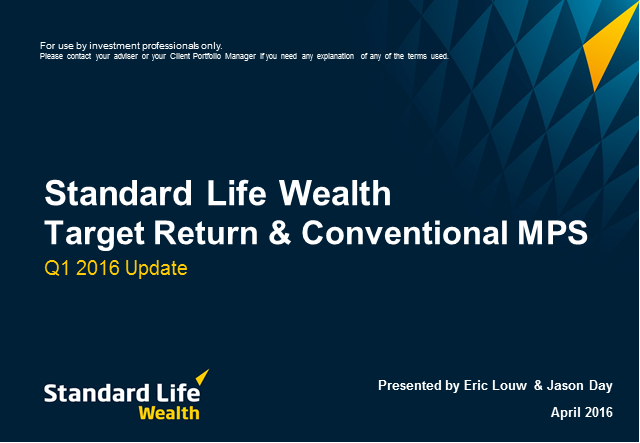 Standard Life Wealth quarterly MPS update Q1 2016