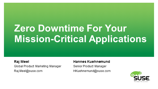 Zero Downtime for Your Mission-Critical Applications