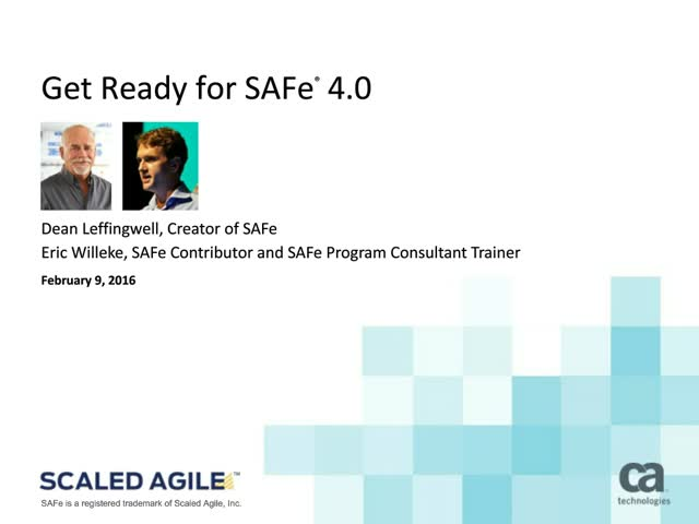 Get Ready for SAFe 4.0