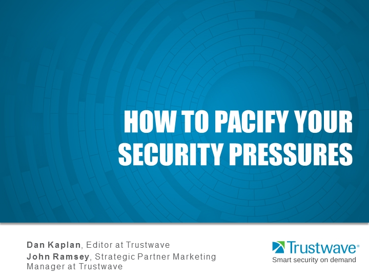 How to Pacify Your Security Pressures