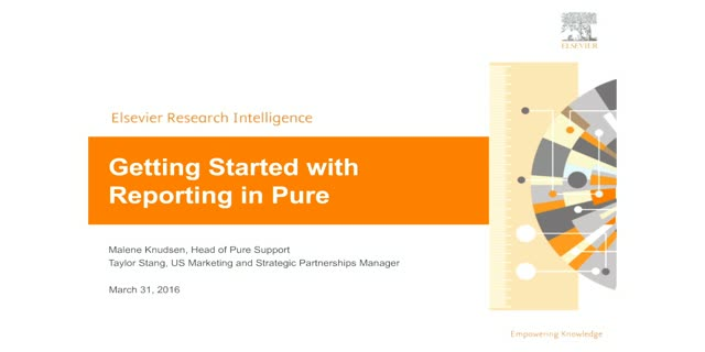 Getting Started with Reporting in Pure