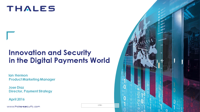 Innovation and security in the digital payments world