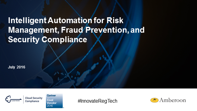 How Intelligent Automation Helps You Manage Risk, Fight Fraud & Stay Compliant