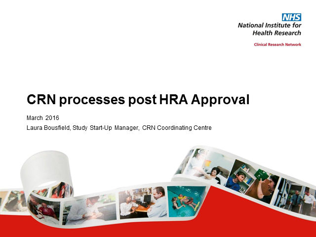 NIHR CRN processes for HRA Approval