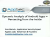 Dynamic Analysis of Android Apps - Attacking Android Apps from the Inside