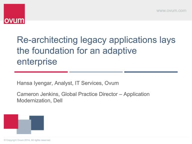 Re-architecting legacy applications lays the foundation for adaptive enterprise