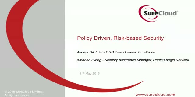 Policy-driven, Risk-based Security