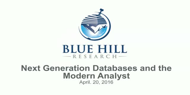 Next Generation Databases and the Modern Data Analyst
