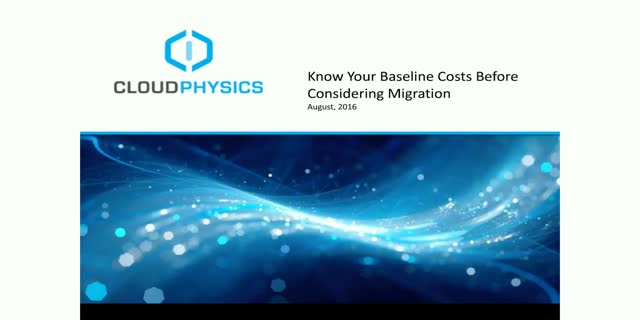 Know Your Baseline Costs Before Considering Migration