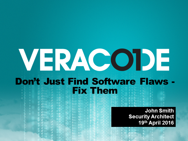Don't Just Find Software Flaws, Fix Them