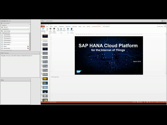 Expert Session: SAP HANA Cloud Platform for the Internet of Things (IoT)