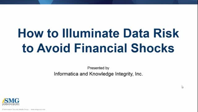 How to Illuminate Data Risk to Avoid Financial Shocks Webinar and Aberdeen White