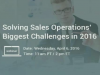 Solving Sales Operations Biggest Challenges in 2016 [EMEA Edition]
