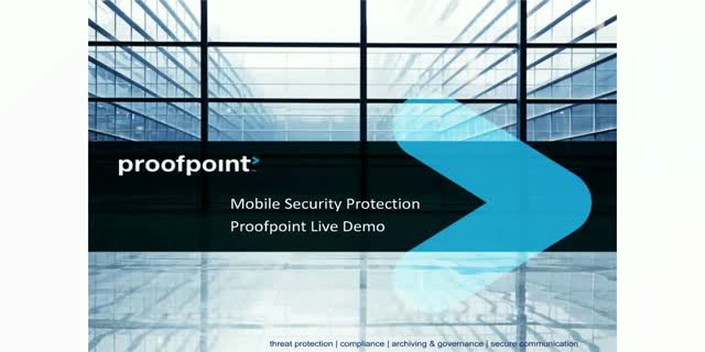 Mobile Security Protection | Proofpoint Live Demo