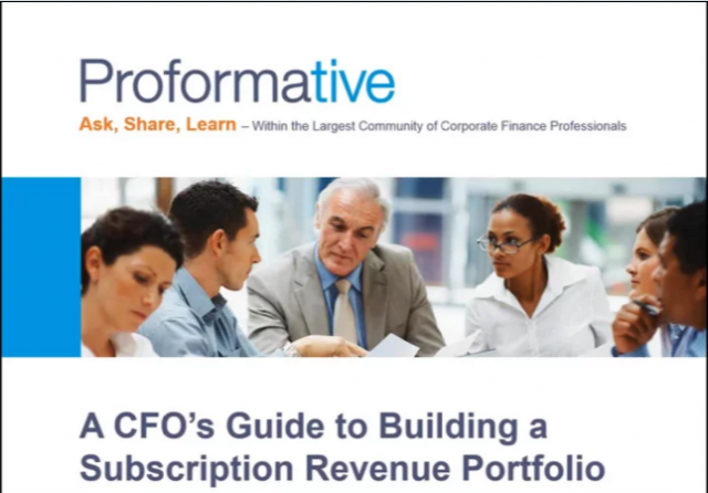 A CFO's Guide to Building a Subscription Revenue Portfolio