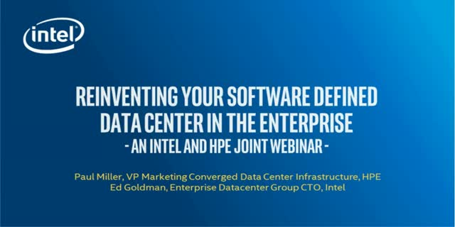 Reinventing your Software Defined Data Center in the Enterprise