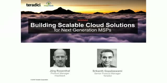 Building Scalable Cloud Solutions for The Next Generation MSP