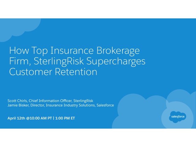 How Top Insurance Brokerage Firm, SterlingRisk Supercharges Customer Retention