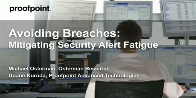 Managing Security Alert Fatigue