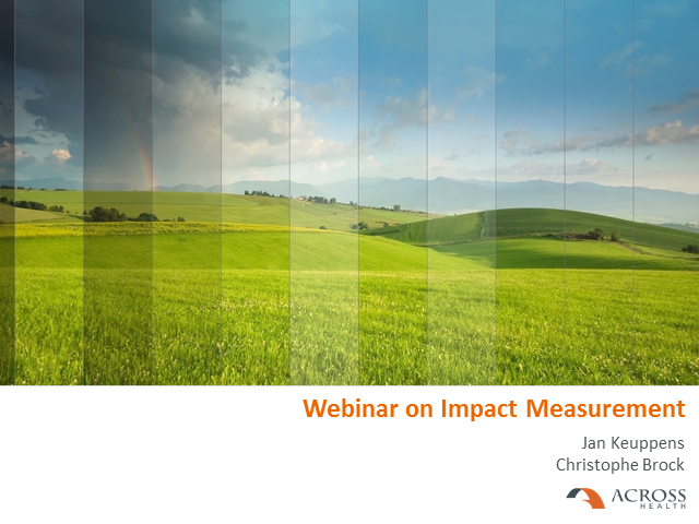 Impact measurement; from counting numbers to actionable insights