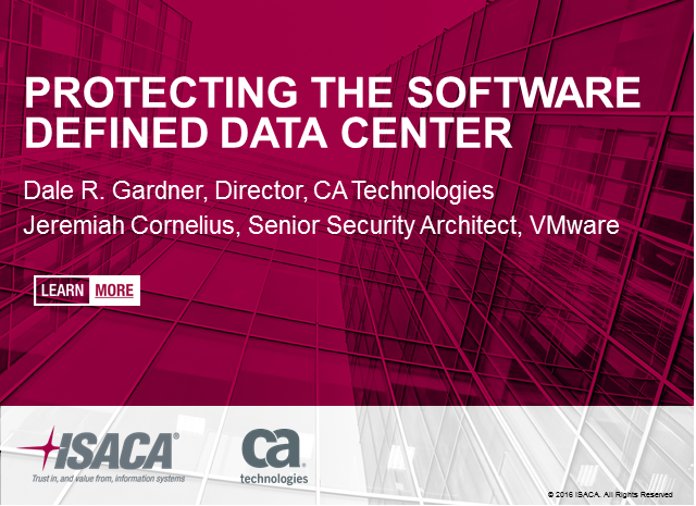 Protecting the Software Defined Data Center