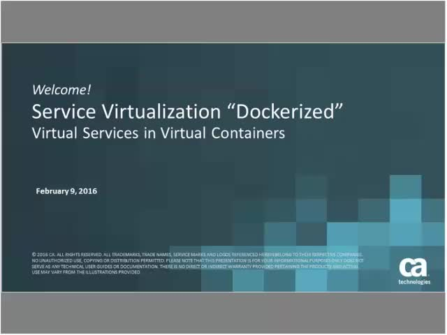 SV Dockerized - Virtual Services in Virtual Containers