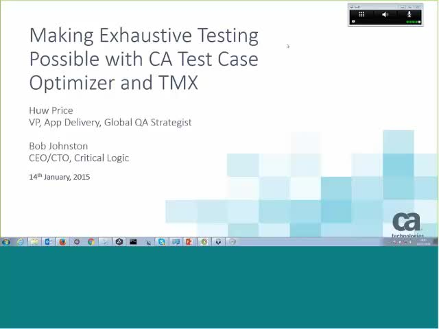 Making Exhaustive Testing Possible with CA Test Case Optimizer and TMX