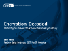 Encryption decoded: What you need to know before you buy